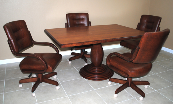 Kitchen Chairs With Caster Highback