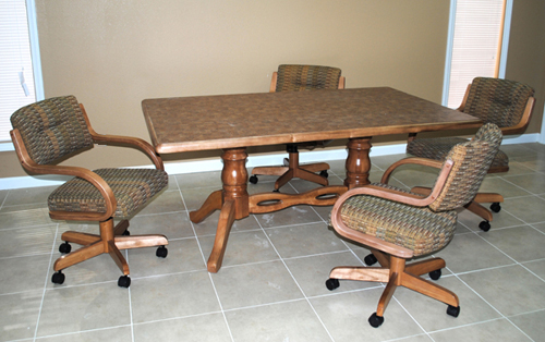 42 x 66 Table 270 Caster Chairs USA Dinettes