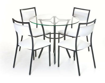 Details as well Chair also  on gl table with 4 chairs