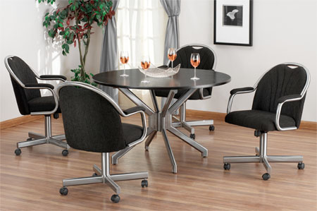 Captivating ... Kitchen Dinette Sets With Caster Chairs