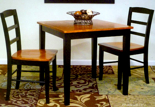 Small Dinette Sets Bistro Set: Wood & Glass Tables with Matching