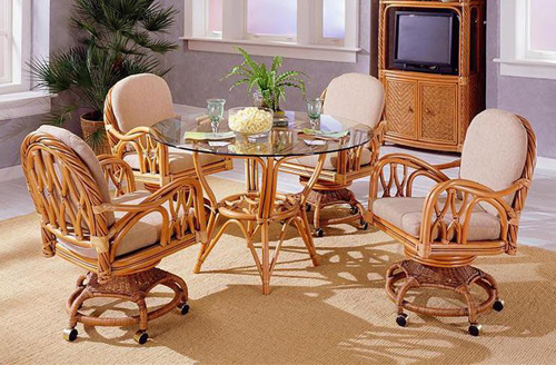 rattan dinette rattan tables wicker tables chairs glass top