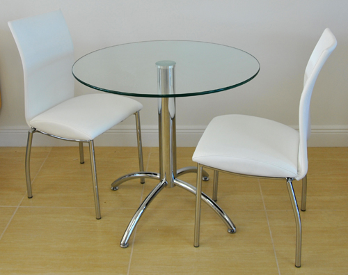 Small Dinette Sets Bistro Set: Wood & Glass Tables with Matching Chairs