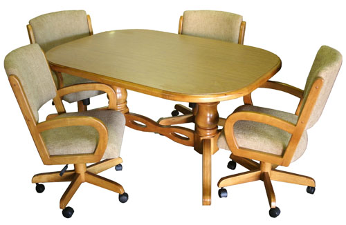 $1,469.00, Set93_42x60x78table_260casterChairs4
